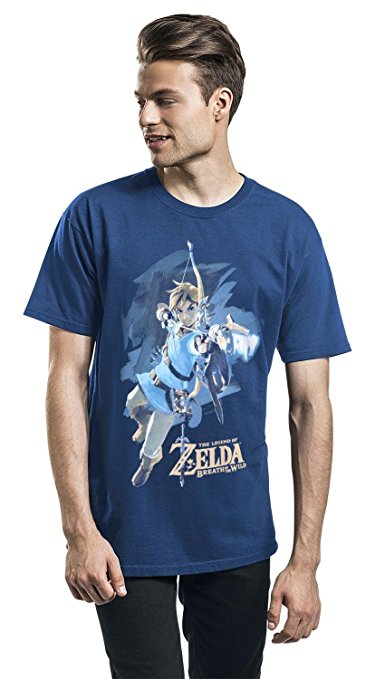 The Legend of Zelda Breath Of The Wild - Link With Arrow T-shirt bleu