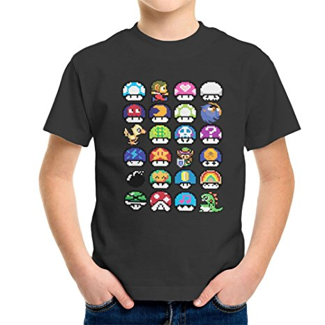 Super Mario Mushrooms T-Shirt